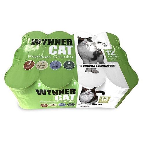 Wynner Premium Cat Chunks Variety 12x400gm