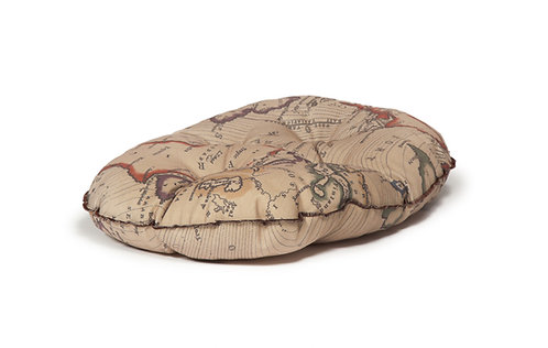 Danish Design Vintage Maps Quilted Mattress