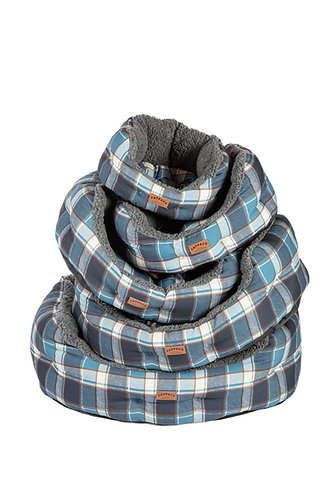 FatFace Fleece Check Deluxe Slumber Bed - 24""