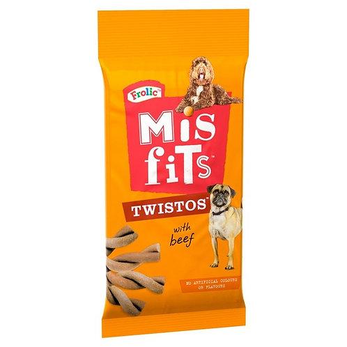 Misfits Twistos Dog Treats with Beef 105g