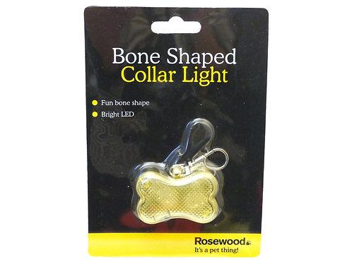 Rosewood Reflective Safety Range Bone Shaped Collar Light