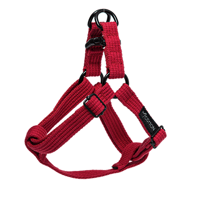 Gor Pets Cotton Harness Medium Red