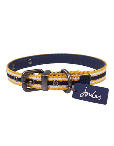 Joules Navy Coastal Dog Collar - Small