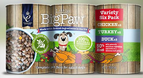 Little Big Paw Dog Variety 390g x 6Pk