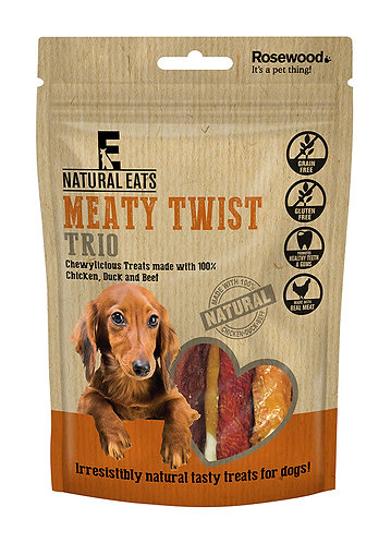 Rosewood Natural Eats Meaty Twist Trio 90g