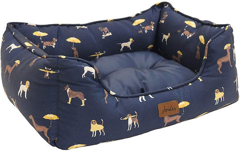 Joules Dog Print Box Bed - Medium