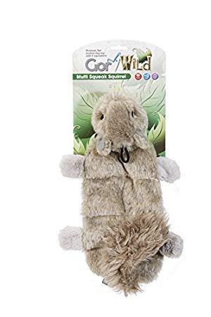 Gor Pets Wild Multi-Squeak Squirrel Toy