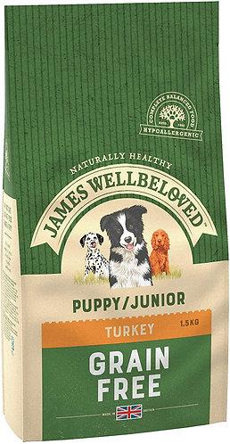 James Wellbeloved Dog Food Turkey & Veg Puppy Grain Free (1.5kg)