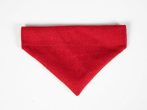 Collared Creatures Simply Red Luxury Harris Tweed Dog Bandana