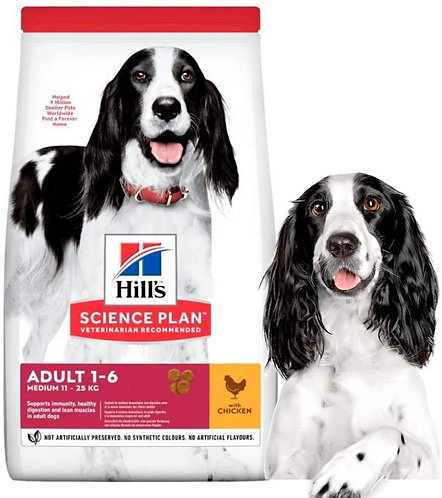 Hill's Science Plan Canine Adult Medium Chicken Dog Food 2.5kg