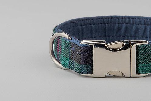 Collared Creatures Baird Modern Tartan Dog Collar