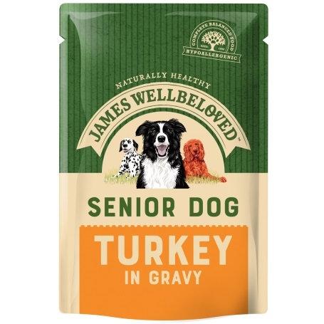 James Wellbeloved Senior Dog Pouch Turkey 10 x 150g