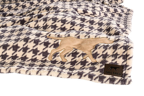 Tall Tails Houndstooth Pet Fleece Blanket Large