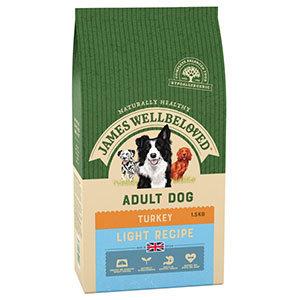 James Wellbeloved Dog Food Turkey and Rice Light (1.5kg)