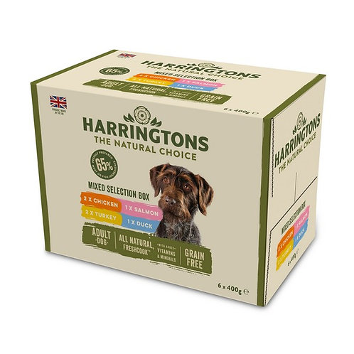 Harringtons Complete Wet Mixed Selection Box 6x 400g
