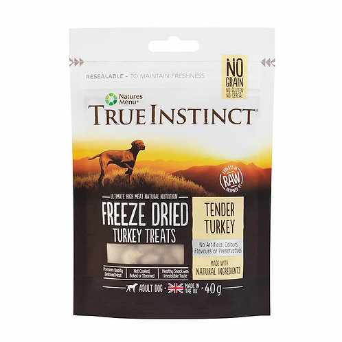 Natures Menu True Instinct Turkey Freeze Dried Treats 40g