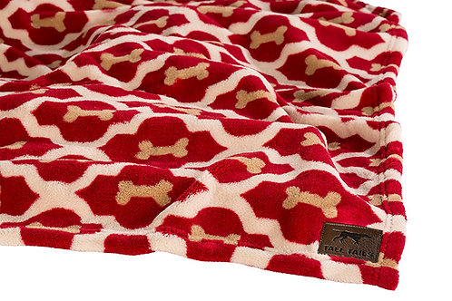 Tall Tails Red Bone Pet Fleece Blanket Small