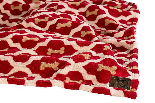 Tall Tails Red Bone Pet Fleece Blanket Medium