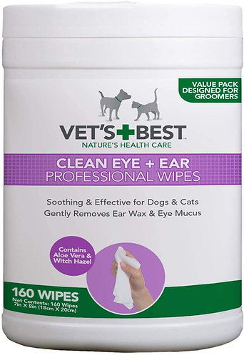 Vet's Best Clean Eye and Ear Professional Wipes for Dogs