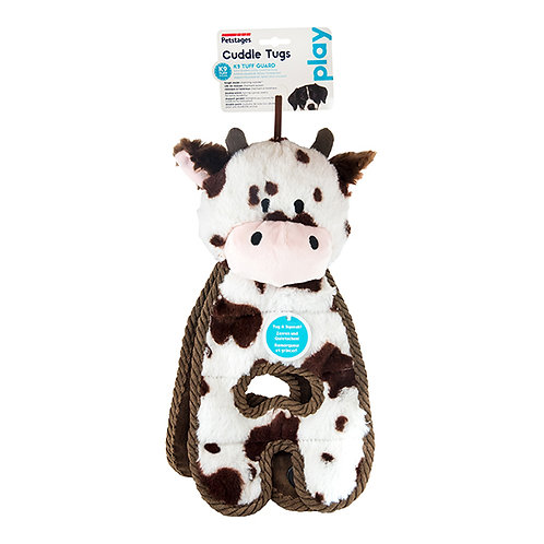 Petstages Cuddle Tugs Cow