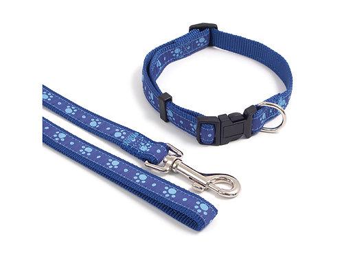 Rosewood Wag 'N' Walk Blue Paw Lead