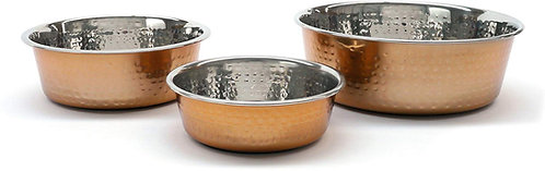 Rosewood Modern Copper Non Slip Stainless Steel Dog Bowl, 940ml, Medium