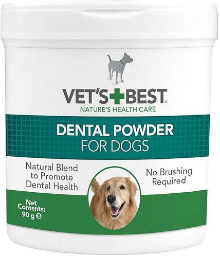 Vet's Best Natural Dental Powder - Plaque off & Tarter Remover for Dogs 90g