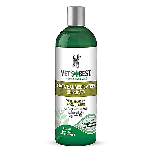 Vets Best Oatmeal Medicated Shampoo 470ml