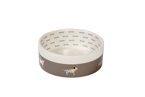 FatFace Marching Dogs Pet Bowl
