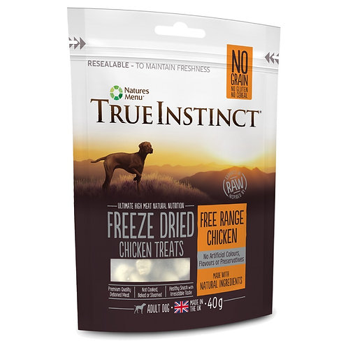 Natures Menu True Instinct Chicken Freeze Dried Treats 40g