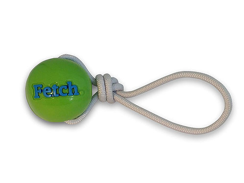 Planet Dog Orbee Tuff Fetch Ball W / Rope-Green