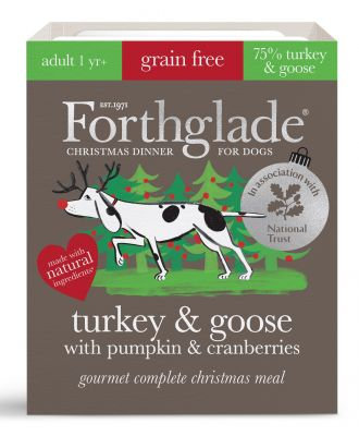 Forthglade Complete Meal Gourmet Xmas Turkey & Goose With Pumpkin & Cranberry