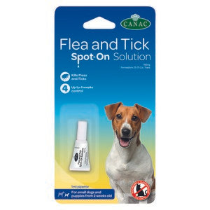 Beaphar CANAC Flea and Tick Spot-On Solution for Dogs - 1 pipette