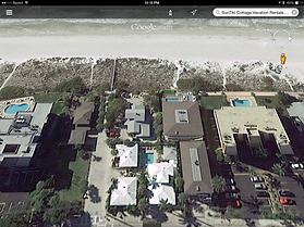 Google aerial photo of SunTiki Cottags