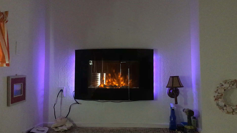 Sunset cottage new LED fireplace