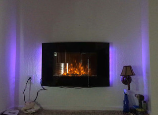 New LED Fireplace in Sunset cottage