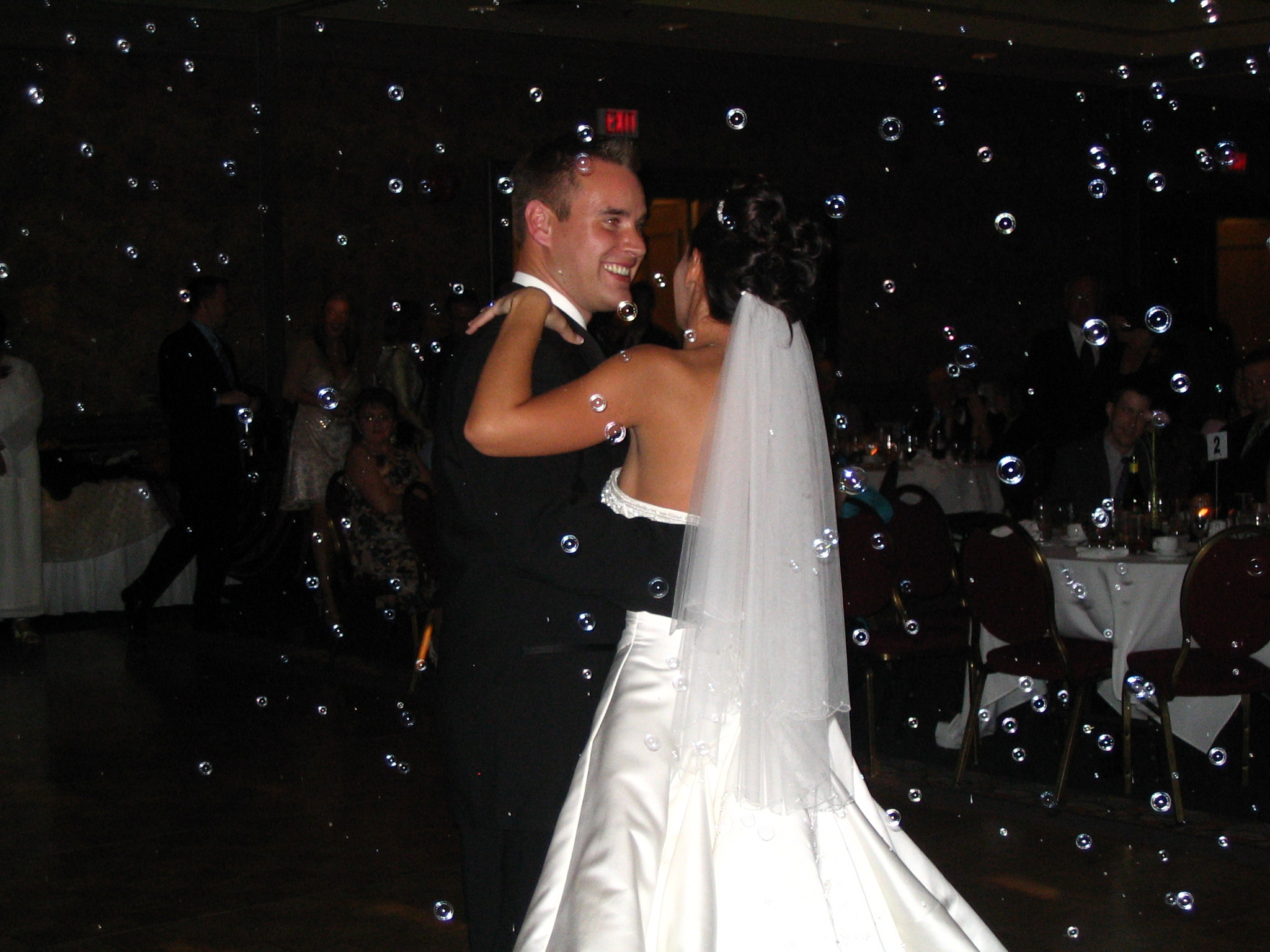 First Dance With Bubbles