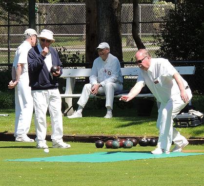 Dunbar lawn bowlers enjoying a club competition
