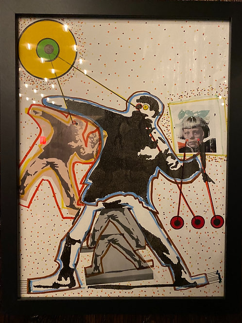 "Banksy Study ""Grenade Thrower"" - Shadow Sees"