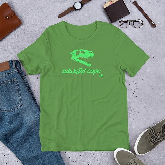 Edward Cope Dinosaur Hunting Apparel Skull SS Unisex T-shirt (Green)