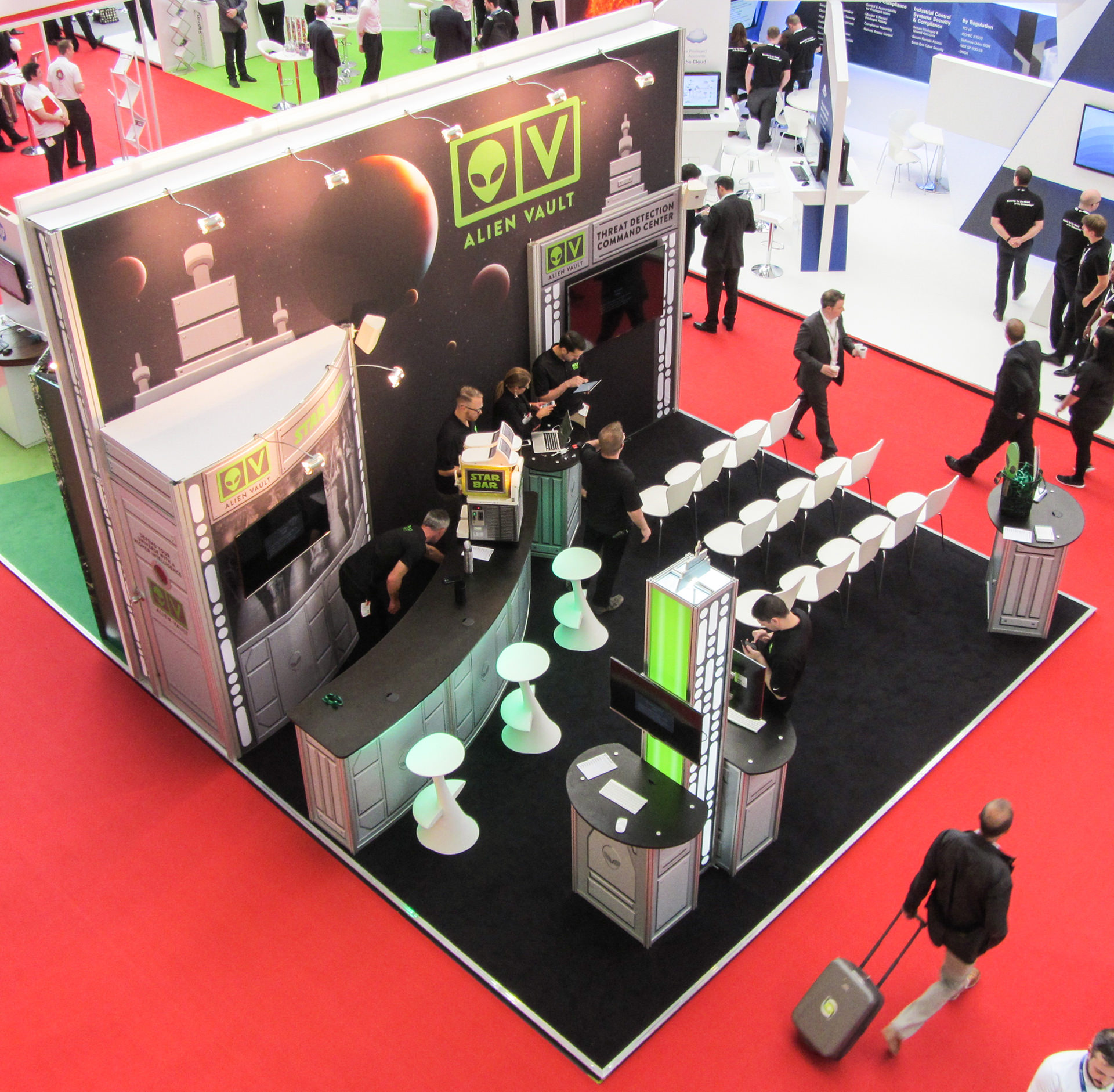AlienVault Exhibition Stand