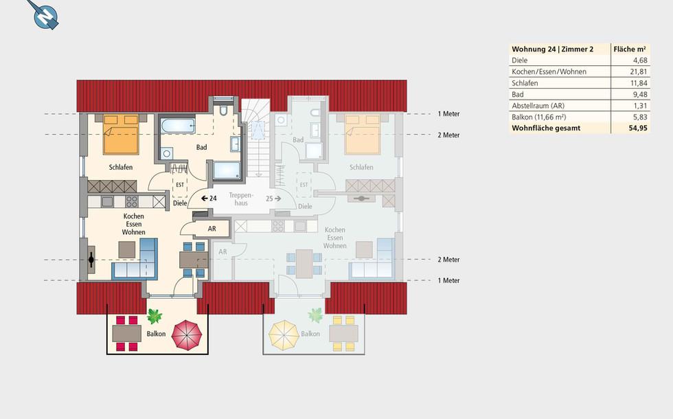 Wohnung 24 | Dachgeschoss