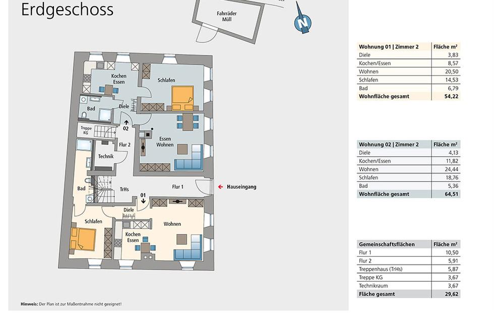 Wohnung 01 und 02 | Erdgeschoss