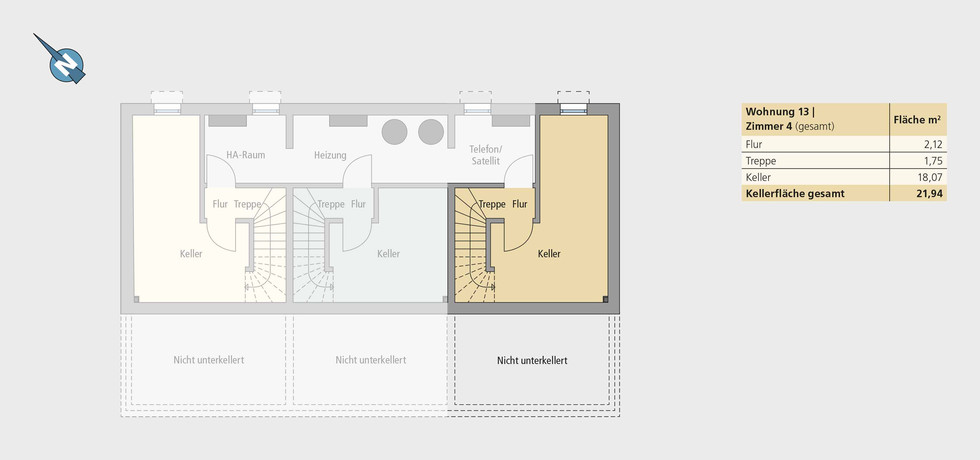 Wohnung 13   Untergeschoss