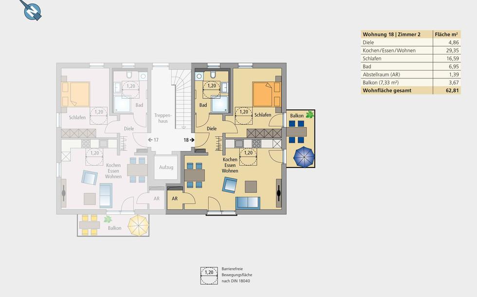 Wohnung 18 | Obergeschoss