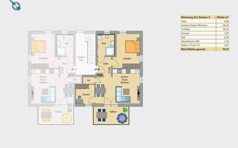 Wohnung 23 | Obergeschoss