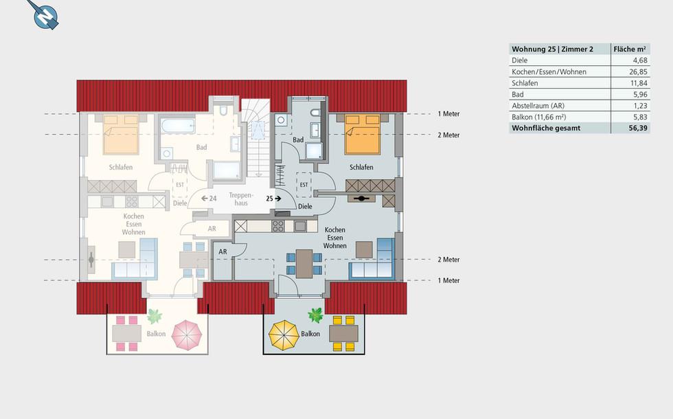 Wohnung 25 | Dachgeschoss