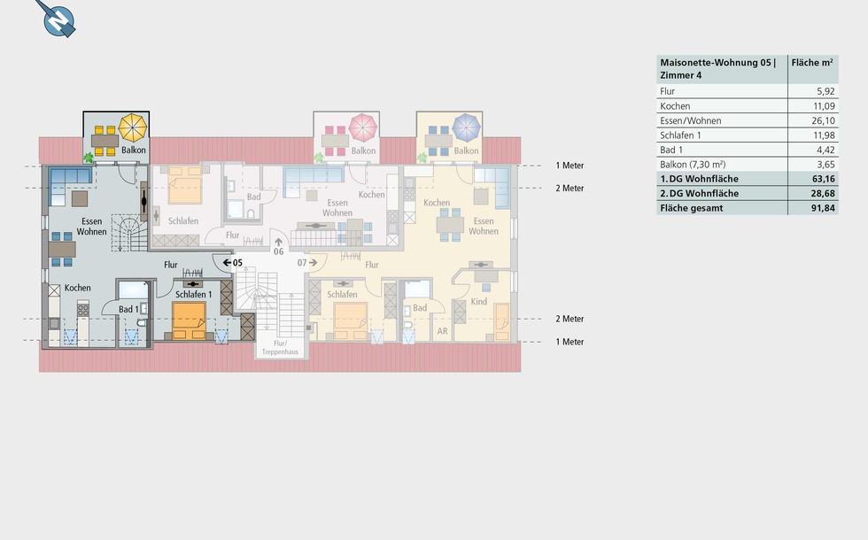 Maisonette-Wohnung 05 | 1. Etage