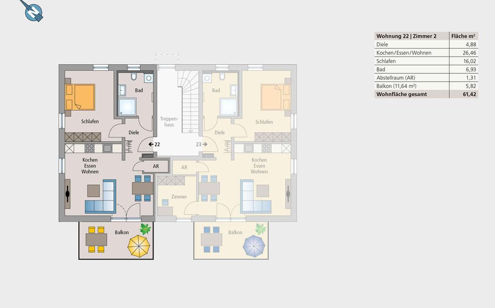 Wohnung 22 | Obergeschoss