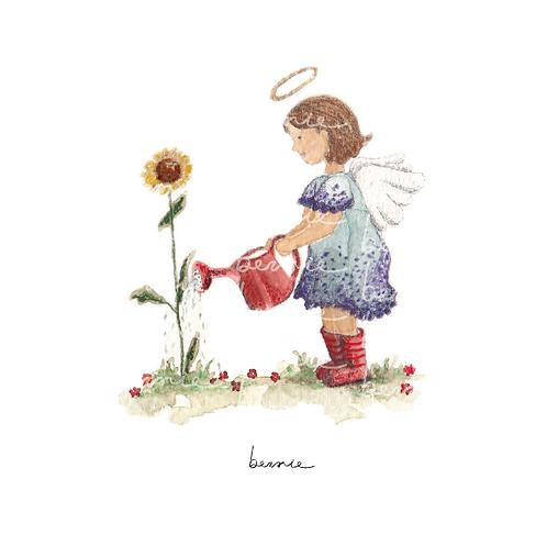 Angelita y su flor